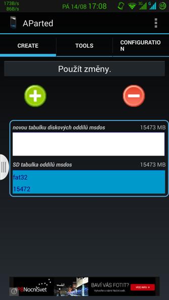 Obrázek: Aparted - úvodní obrazovka