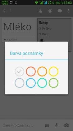 Obrázek: Keep - výběr barvy