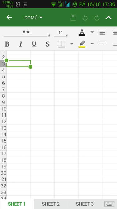 Obrázek: OfficeSuite - tabulky