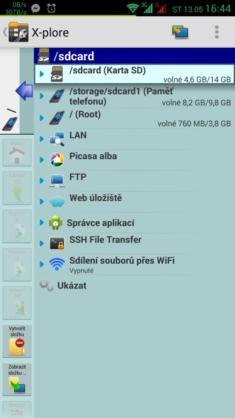 Veškeré dostupné disky včetně síťových