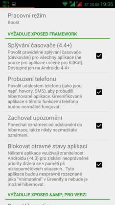 Zbytek nastavení appky. Pouze v Pro verzi s Xposed modulem