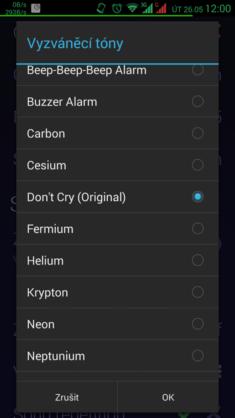 Obrázek: Výběr požadované skladby