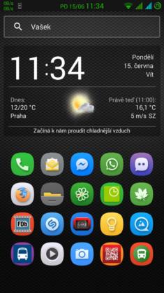 Obrázek: In-Počasí - Widget aplikace