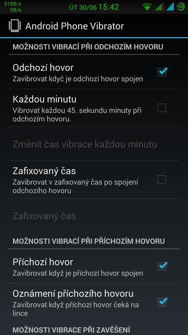 Obrázek: Android Phone Vibrator Menu 2