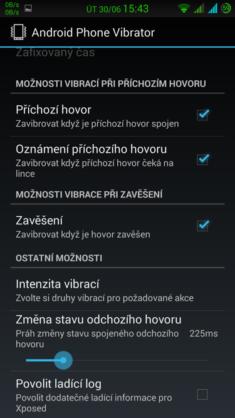 Obrázek: Android Phone Vibrator Menu