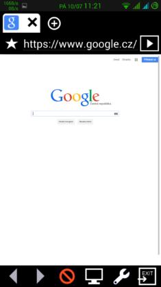 Obrázek: Minibrowser - Zobrazení jako na PC