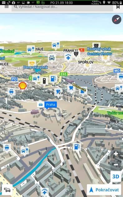 Obrázek: Sygic - 3D budovy