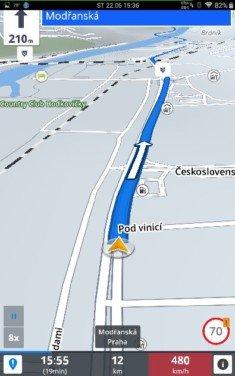 Obrázek: Sygic: Mapa za jízdy