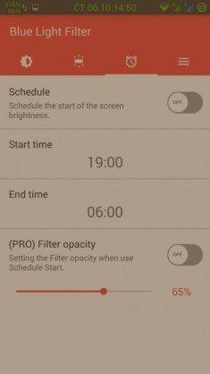 Obrázek: Blue Light Screen Filter - časovač