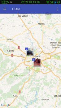 Obrázek: F-Stop - Mapa pořízených fotografií