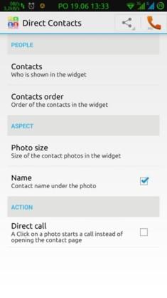 Obrázek: Nastavení chování widgetu