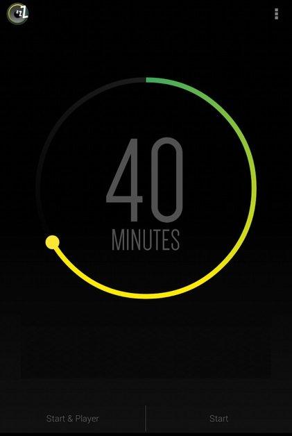 Obrázek: Sleep timer - ovládání