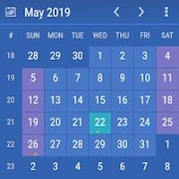 Kalendář widget