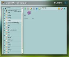 Obrázek: Ukázka správce souborů v PC internetovém prohlížeči